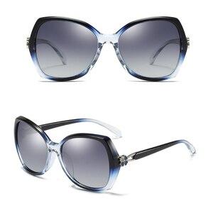 Image 4 - SIMPRECT Polarized Sunglasses Women 2020 Oversized Sunglasses Retro Square Sun Glasses Luxury Brand Designer Shades For Women