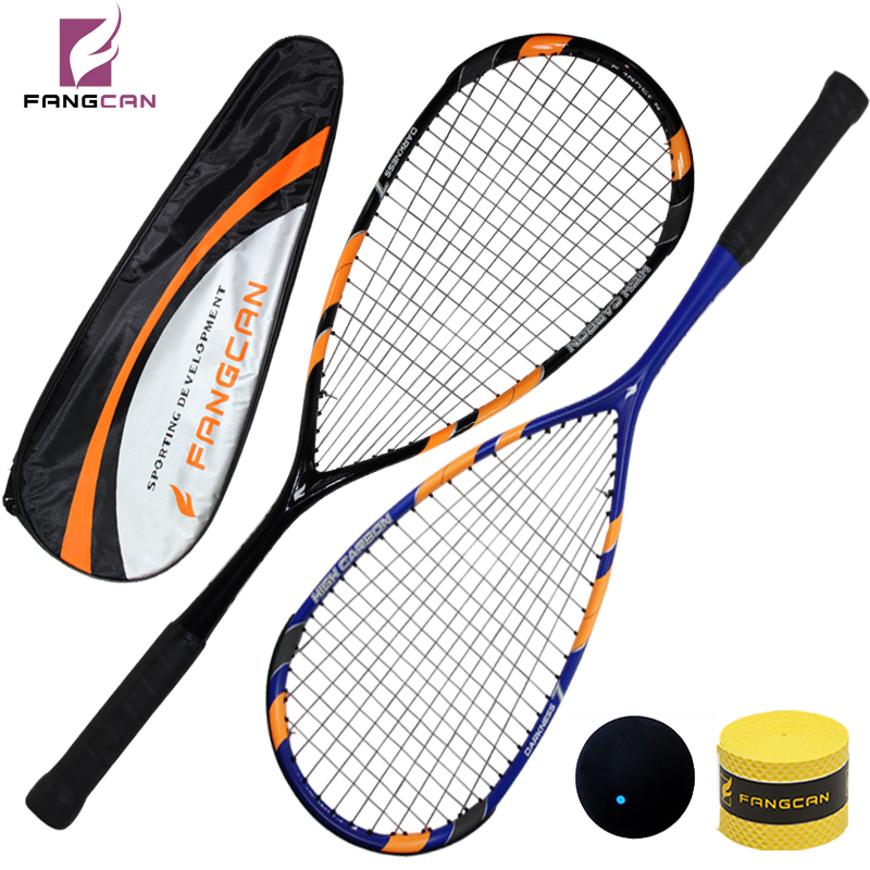 все цены на 2 pcs FANGCAN Darkness 7 Squash Racket 100% Carbon T700 Ultralight Squash Racket With String and Cover онлайн