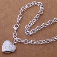AN749 Модные оптовая серебряное Ожерелье, 925 серебряных ювелирных изделий Грубой ожерелье с сердцем/cdiakupa hbeapsla