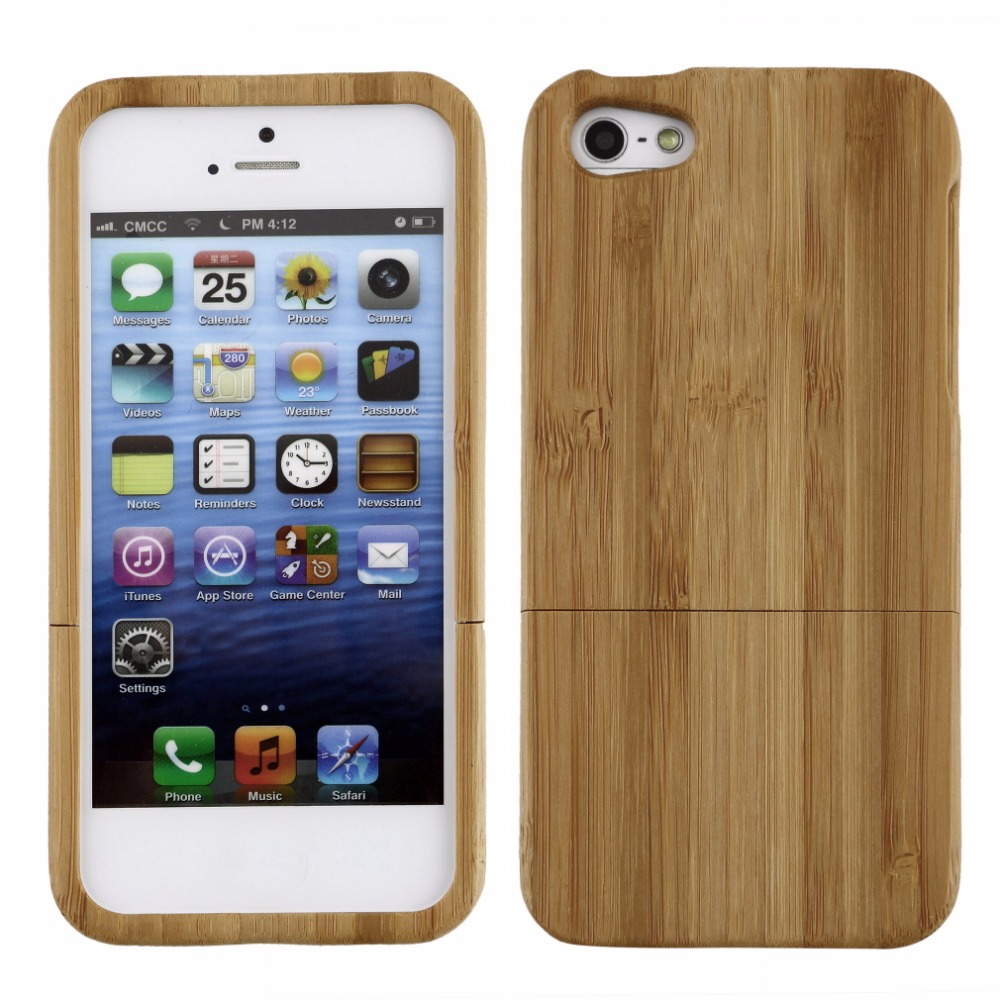 1pcs Bamboo Hard Back Case Cover Protector for iPhone 5 5S Wood Color Wholesale
