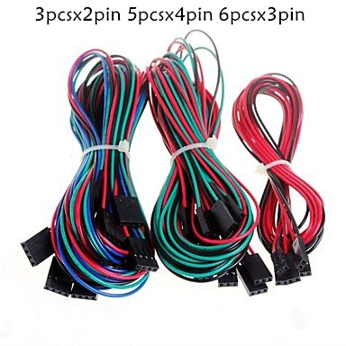 14pcs/lot Complete Wiring Dupont  Cables Set for 3D Printer Reprap RAMPS 1.4 Endstops Thermistors Motor14pcs/lot Complete Wiring Dupont  Cables Set for 3D Printer Reprap RAMPS 1.4 Endstops Thermistors Motor