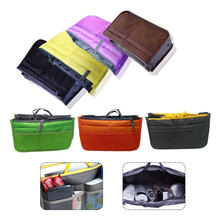 8 Colors Portable Multifunction Dual Zipper Storage Cosmetic Bag Organizer Holder Bolsas Make Up Travel Makeup
