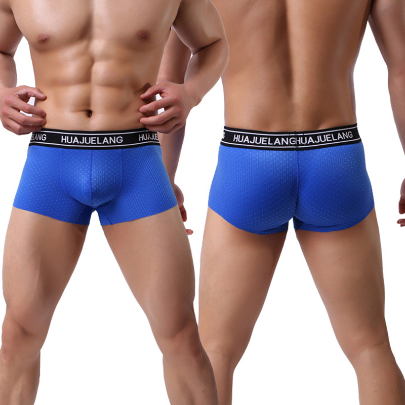 Men Boxer Shorts Mens Sexy Solid Trunks Underwear Breathable Convex Pouch Bottoms Comfortable Underpants Male Panties Fashion