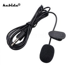 Kebidu נייד חיצוני 3.5mm דיבורית מיני Wired צווארון קליפ דש Lavalier מיקרופון למחשב מחשב נייד Lound רמקול