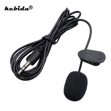 kebidu Portable External 3.5mm Hands Free Mini Wired Collar Clip Lapel Lavalier Microphone For PC Laptop Lound Speaker