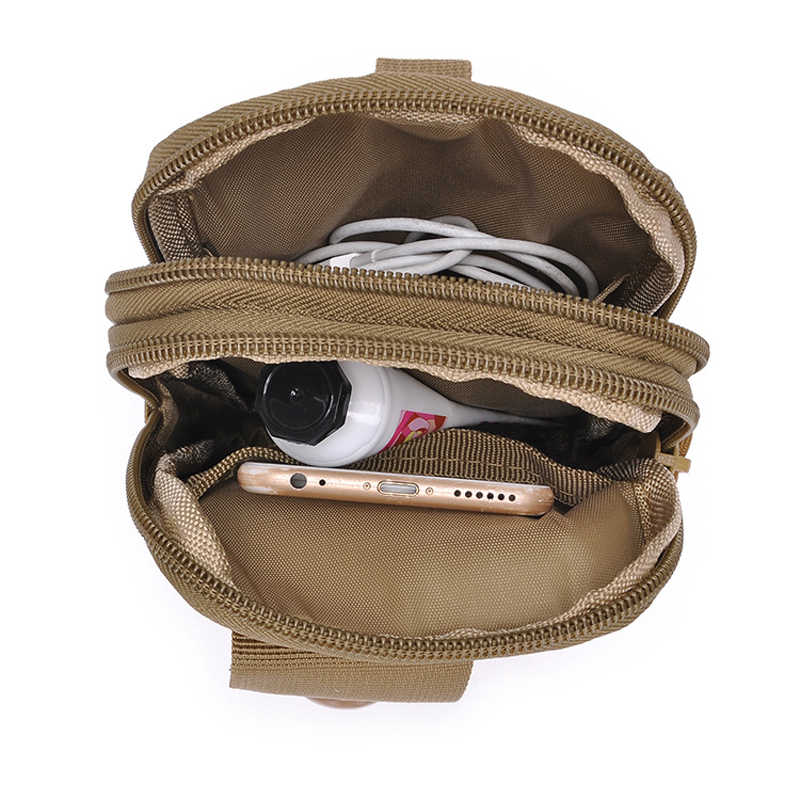 c8a849219890 Tactical Molle Pouch Military Men Hip Waist Belt Bag Small Pocket Running  Pouch Outdoor Travel Camping Bags Phone Case