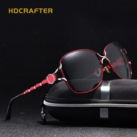 HDCRAFTER New Fashion Cat Eye Sunglasses Women Colors Frame Gradient Polarized Sun Glasses Driving UV400