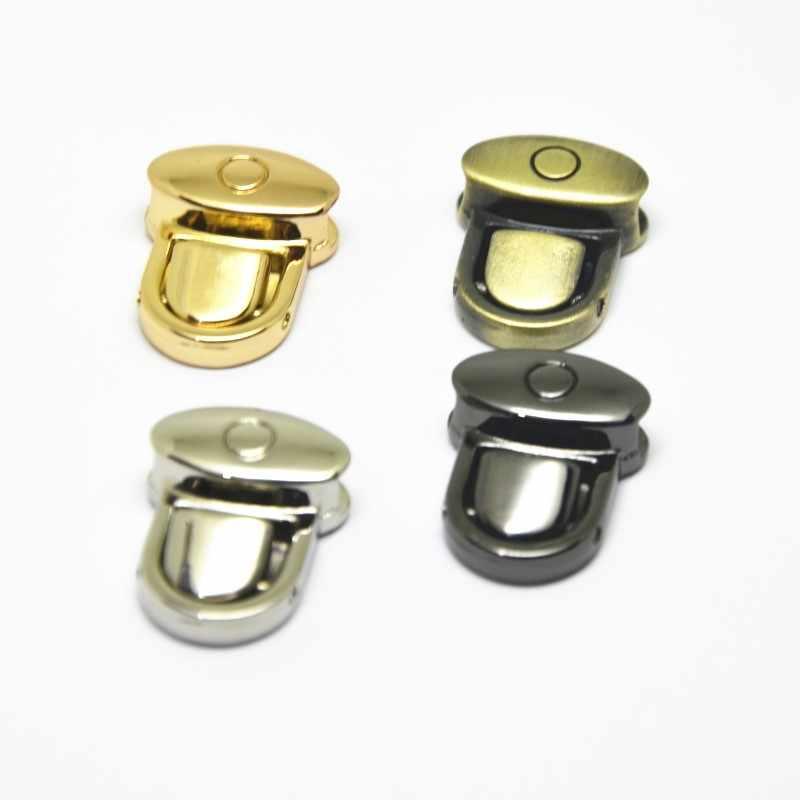 5 Juegos de cierre de Metal botón de bloqueo para el bolso de mano DIY cierre de la bolsa piezas de cierre accesorios de costura oro plata Gunblack de bronce