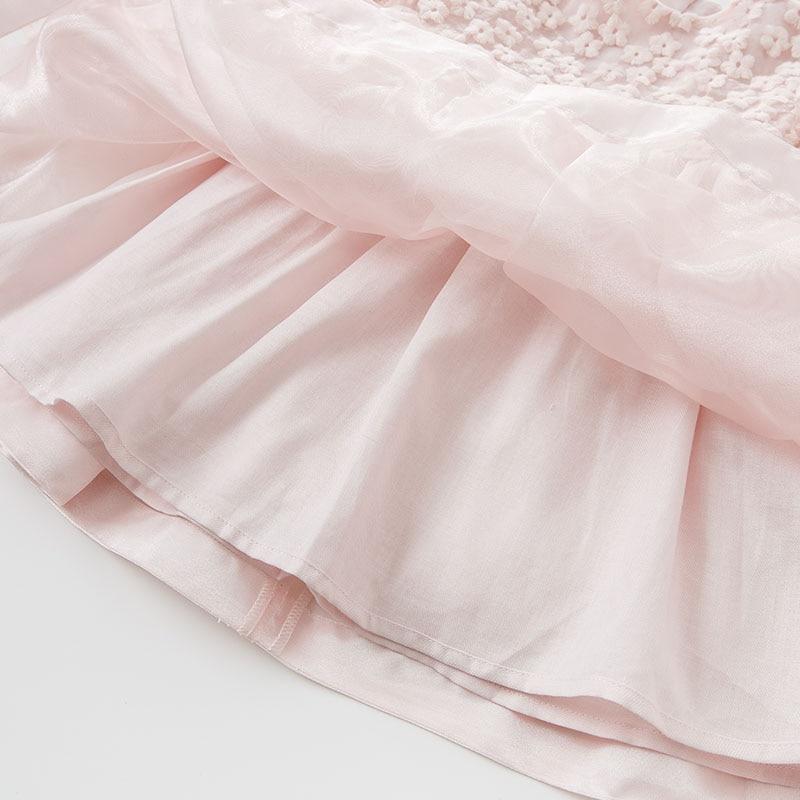 DBJ10299 dave bella spring autumn infant baby girl's fashion dress kids birthday party dress toddler children pink dress