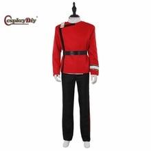 Cosplaydiy Star Trek II-VI Wrath of Khan starfleet Cosplay Costume Halloween Suit Outfit Custom Made D1029