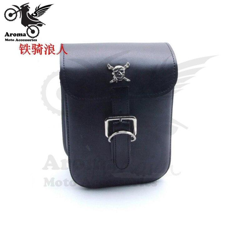mini skull motorcycle tail bag motorbike saddlebag for harley bags prince cruise tool luggage waterproof moto head bags parts