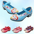 2016 New Summer Baby Girls Princess Sandals Children PU Leather Shoe Kids Printed Shoes Snow White Sandalia Infantil Size 26~36