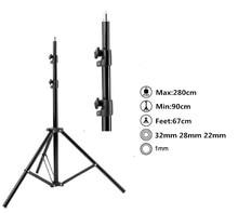 Max entension 280cm LED lighting stand tripod Ajustable Photo Studio Accessories For Softbox Photo Video Lighting Flashgun Lamps
