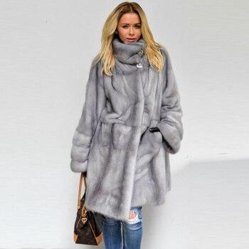 4e39846ebd1 Зимняя куртка Для женщин реальные меховое пальто из норки Arctic Природа  Лисий мех пальто Для женщин парки Зимний дворец Для женщин Зимняя кур.