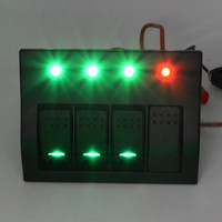 Auto 4 Gang Waterproof Car Auto Boat Marine LED Rocker Switch Panel Circuit Breakers Dec16