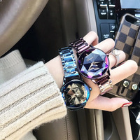 2019 Luxury Brand lady Crystal Wrist Watch Women Starry sky Fashion Rose Gold Quartz Watches Female Stainless Steel Wristwatches