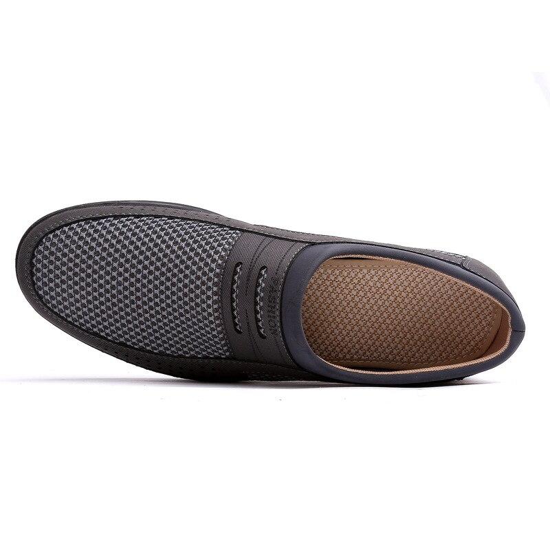 grigie corsa autunno uomo casual scarpe primavera per moda di scarpe Hollow darkcoffee nuova all'aperto uomo scarpe uomo caffè semplice scarpe traspirante lusso morbido Merkmak qEwgg6