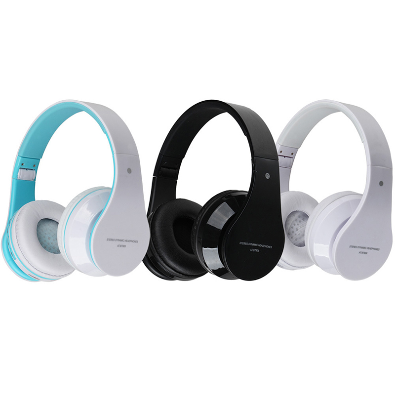 BT809 Bluetooth Stereo Music Headphones Foldable Headband Wireless Headset Support FM Radio TF Card For Iphone Android phone new wireless headphones stereo bluetooth headset card mp3 player earphone fm radio music for music wireless headphone