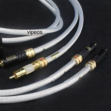 Пара 5NOCC один серебряного цвета с кристальной платформой + WBT золото штекер Rca 2RCA для 2RCA меломанов аудио кабель для дома Театр DVD ТВ усилитель CD плеер