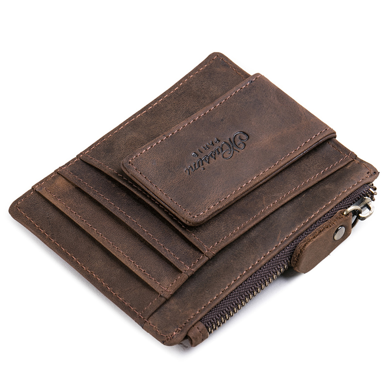 Teemzone Women Men Zipper Wallet Pengar Clip Magnetisk Clip Ultrathin - Plånböcker - Foto 2