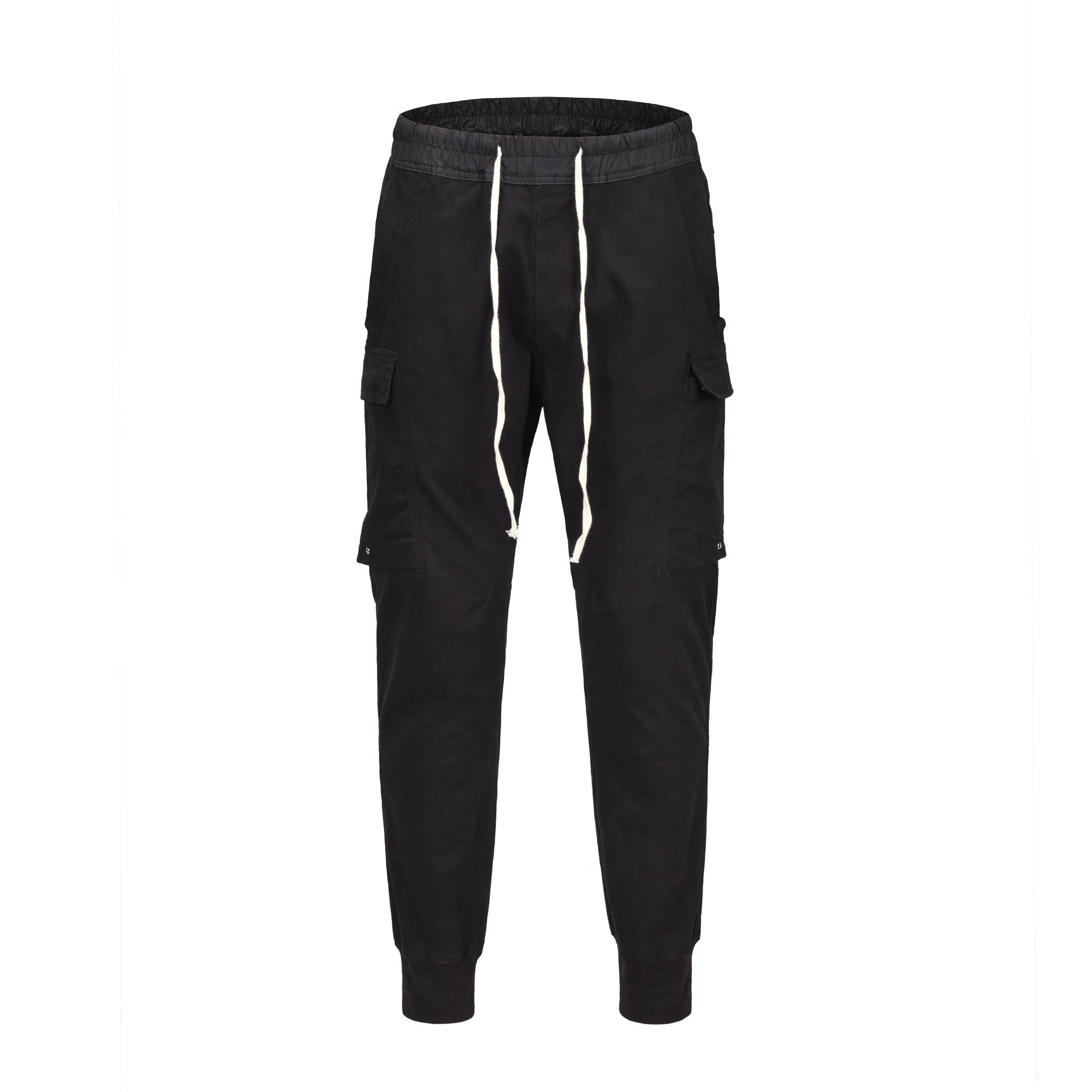 19ss nouvelle Europe amérique RO style 3D coupe slim multi-sac pantalon haute rue loisirs coton hommes pantalons de survêtement
