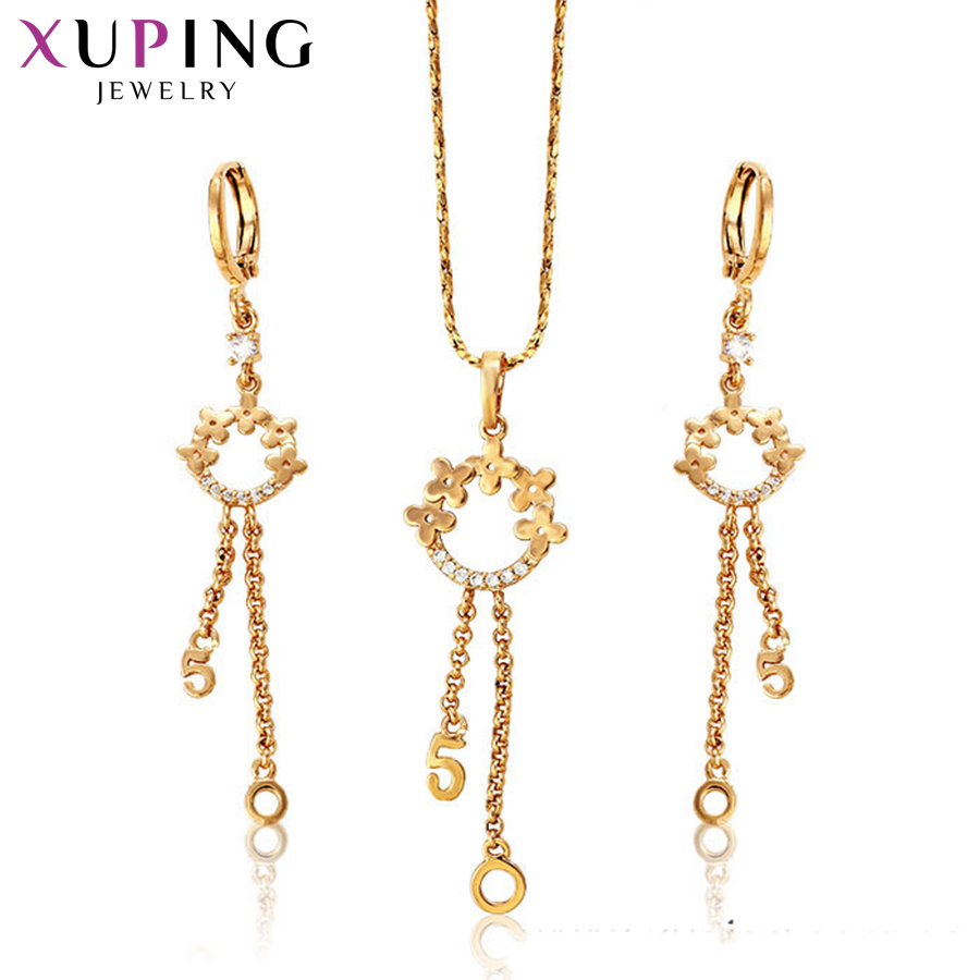 Back To Search Resultsjewelry & Accessories Xuping Fashion Sweet Jewelry Sets Gold Color Plated Synthetic Cubic Zirconia For Women Thanksgiving Day Gift S72,6-62653