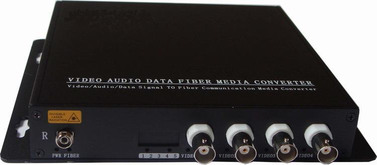HD Video TVI Fiber Optical Converter, 4ch Hd 720P Video Fiber Optic Transmitter, Single-mode Single Fiber 20KM, FC Fiber Port