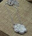 Гарантия Равнине 925 твердых Стерлингового Серебра, цветок Ожерелье, 48 см, 4.2 г, NE31324