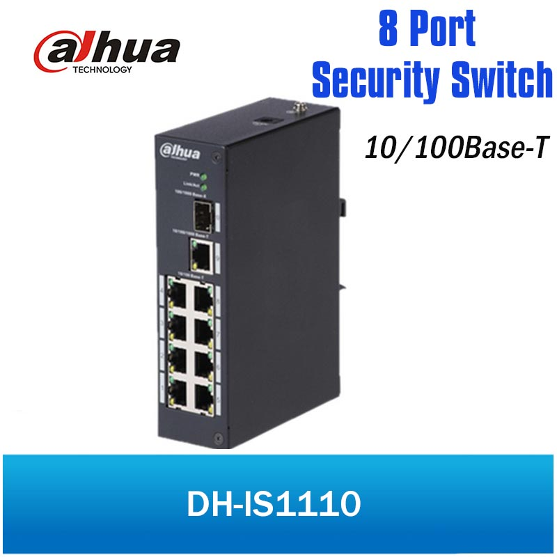 DH 8 ports Security special switch DH-IS1110 10/100Base-T Ethernet ports IP40 protection industrial design for IP System dh 8 ports poe switch standard 48v not burn the machine 250 meters transmit for security cameras and cctv ip system