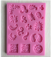 Sell Hot New Style Flowers And Plants Theme Fondant Cake Mold Silicon Soap Mold Cake Decoration