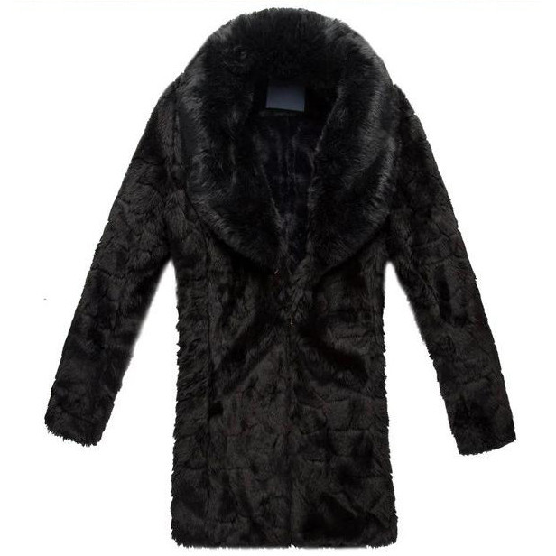 Faux Fur Coat Black And White - Tradingbasis