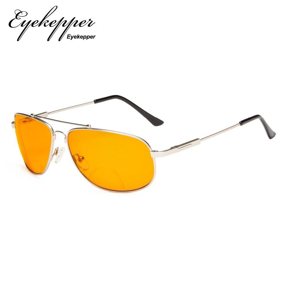 Blocking spezielle Blau Bifokale Für Getönte Speicher Gläser Rahmen nacht Lesebrille Schlaf Dssg1803 Orange Eyekepper Brillen wvxIqIA