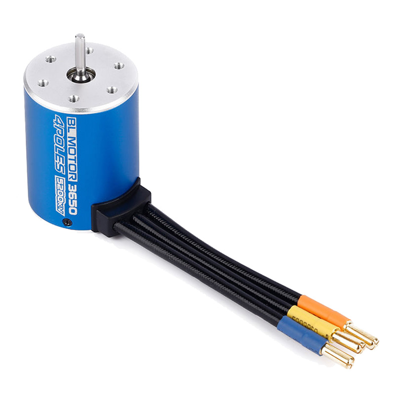 3650 5200KV 4Poles Brushless Sensorless Motor For 1/10 RC Racing Car Boat Truggy 3650 3900kv 4p sensorless brushless motor 60a brushless elec speed controller esc w 5 8v 3a switch mode bec for 1 10 rc car