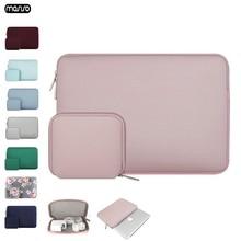 Mosiso luva do portátil 11 12 13 14 15 15.6 polegada notebook caso macio saco para macbook ar 13 nova barra de toque retina dell notebook sacos