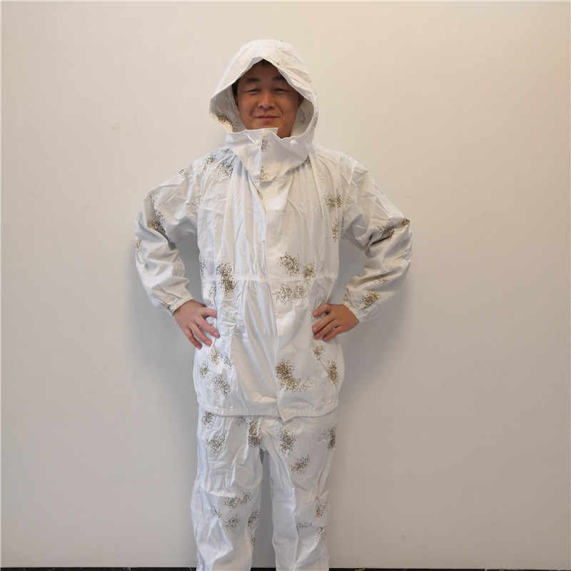 6fc26829a8d9f Jacket style white snow Camouflage Ghillie Suits Hunting 3D Bionic color  Polyester and cotton Material Hunting