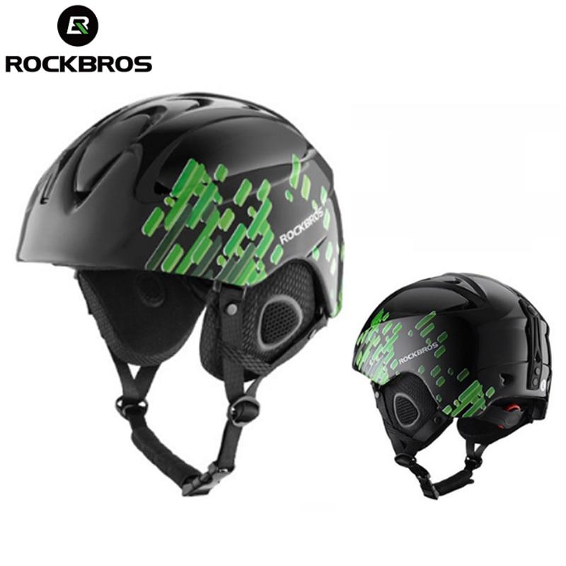 ROCKBROS лыжный шлем интегрально-литой защитный лыжный шлем Защита взрослых детей термолегкий сноуборд скейтборд голова одежда