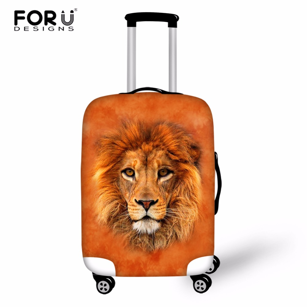 FORUDESIGNS Luggage Cover for Trip 18-28 Inch Elastic Travel Case Cover valise Trolly Suitcase Protective Covers Travel Accessor