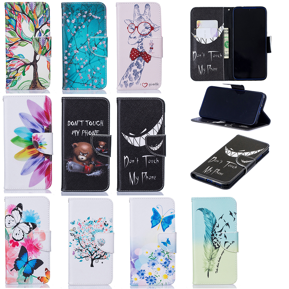 Luxury Painted pattern Wallet Flip Case for <font><b>Samsung</b></font> <font><b>Galaxy</b></font> <font><b>J2</b></font> <font><b>2018</b></font> <font><b>SM</b></font>-<font><b>J250F</b></font> Grand Prime Pro J3 Emerge 2017 <font><b>SM</b></font>-J327P J330F Cover image
