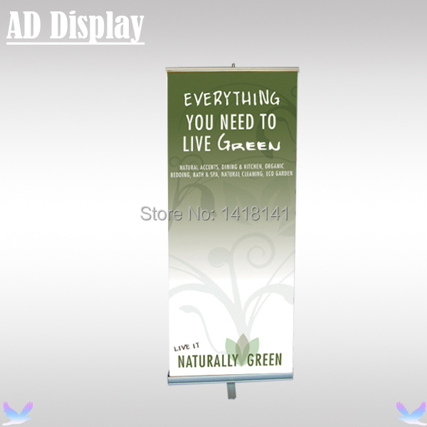 80*200cm 6PCS High Quality One Foot Aluminum Retractable Roll Up Banner Stand,Portable Pull Up Display(Only Stand)
