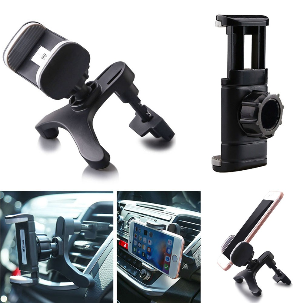 car interior universal adjustable air vent mount phone holder stand for iphone 6 6s plus mobile. Black Bedroom Furniture Sets. Home Design Ideas