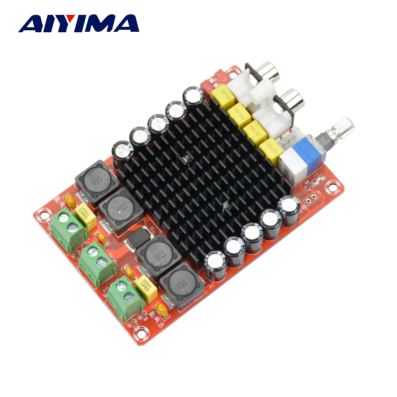 все цены на Aiyima TDA7498 Digital Amplifier Board 2*100W Class D Dual Channel Car Amplifiers DC14-34V DIY Sound System Speaker Home Theater