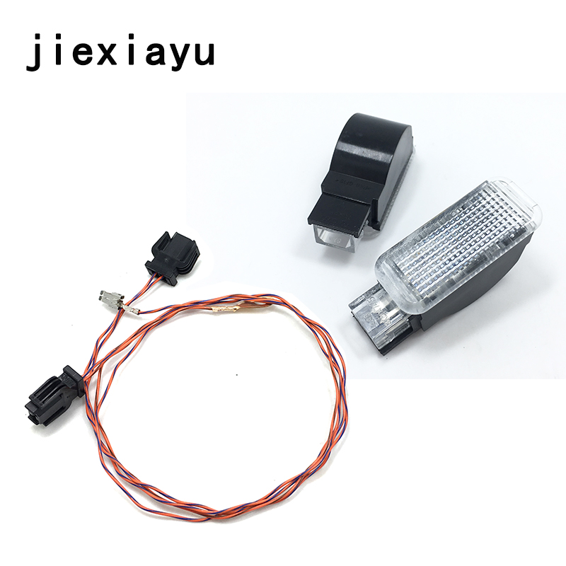 2PCS Glove box lights and Cable For <font><b>A3</b></font> A4 A5 A6 Allroad Quattro A7 Q3 Q5 Q7 TT 8KD 947 415 C 4B0 947 415 A 8D0 947 415 image