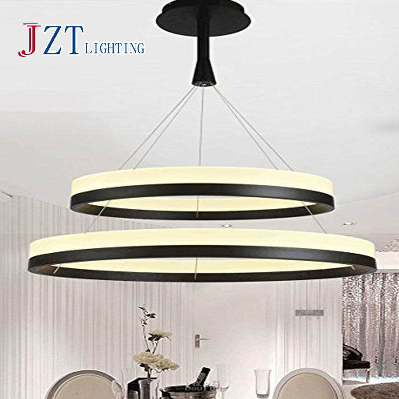 Z besty price Two Rings (11.8 - 19.7 Inche) LED Lighting Design Crystal lighting Fixture Flush Mount Lamp K9 Chandelier