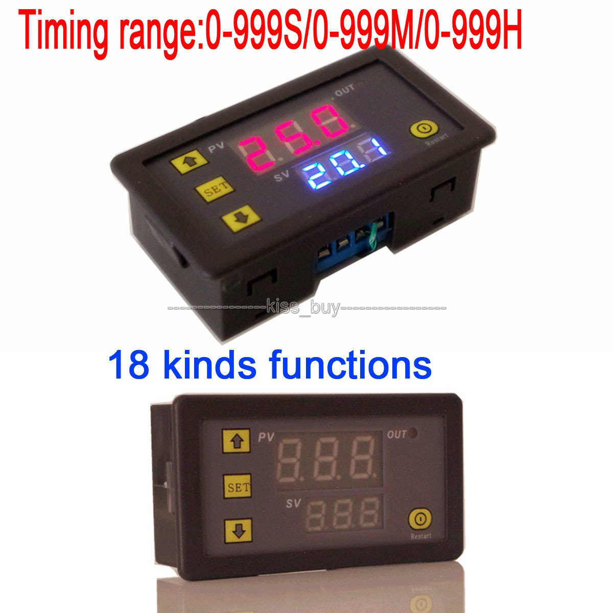 Dc 24v Cycle Timer Delay Time Switch Digital Dual Display Relay How Do I Wire A 12v Motor To Micro Switches Module 0 999 Hr