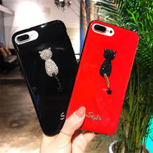 New Cat For Iphone 6 6S 7 8plus X Xs Xr Xsmax Silicone Soft Rhinestone All-Inclusive Anti-Fall Mobile Shell all new x men vol 7