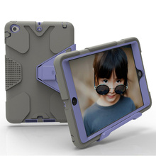 For ipad 2 3 4 case robot Kids Safe Shockproof Heavy Duty PC Hard Cover kickstand design For Apple ipad 4 Protective cover 2016 new shockproof heavy duty case for ipad 2 3 4 protect skin rubber hybrid silicon pc cover cases
