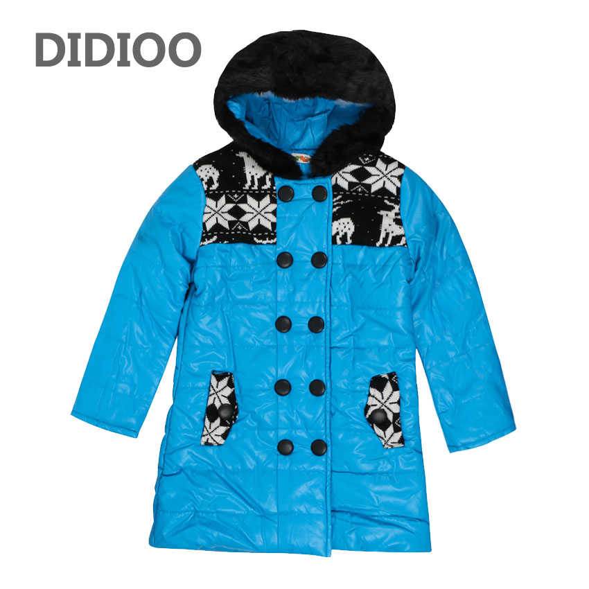 Winter Jackets For Girls Cotton-Padded Parkas Floral PU Coats For Kids Clothes Teenage Warm Outerwear 8 10 12 14 Years Snowsuits 2015 snow kids clothing floral printed padded thicken children coats warm girls snowsuits outfits winter jackets for baby girls