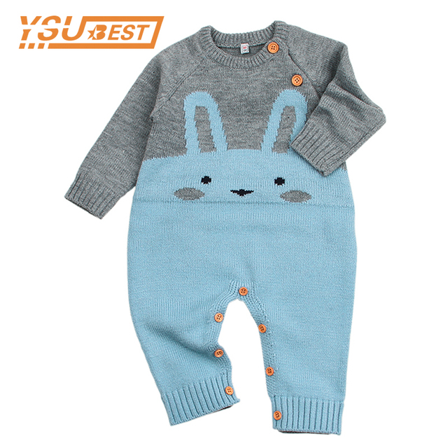 833b133a238 Baby Animals Romper Funny Rabbit Knitted Toddler One Piece Overalls Infant  Boys Jumpsuit Outfit Newborn Baby Girl Summer Clothes