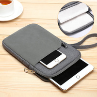 For IPad Mini 1 2 3 4 ZVRUA Cotton Shockproof Tablet Cover Sleeve Pouch Bag For