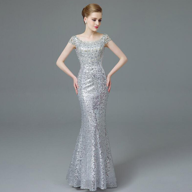 Buy Cheap Prom Dresses sequined clothes Long For Special Occasions Evening Dress night Gowns Mermaid 2017 Long Evening Dress